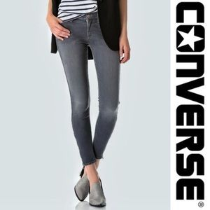 EUC Converse Zippered Ankle Skinny Jeans